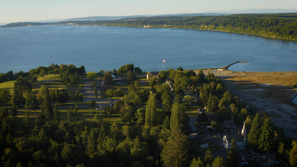 Port Gamble aerial shot